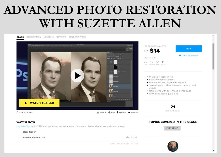 Advanced Photo Restoration old photo restoration photoshop