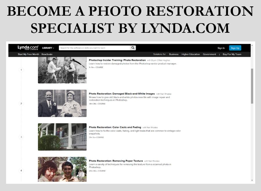 Become a Photo Restoration photo restoration photoshop