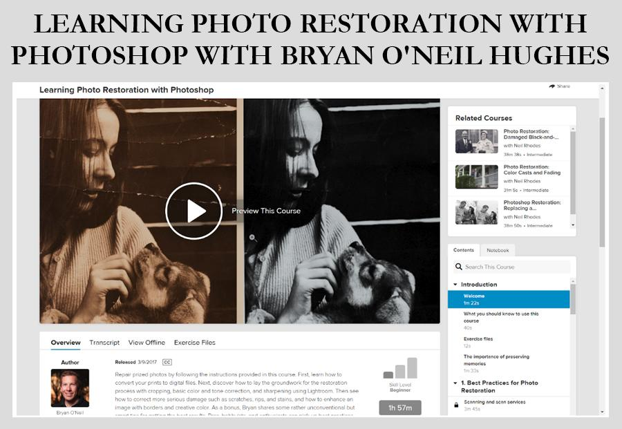 Learning Photo Restoration photoshop old photo restoration