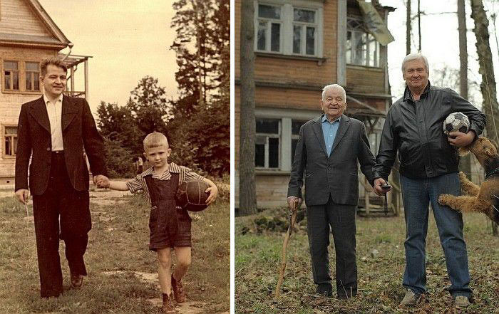 Before after childhood photos - recreate old photos professionally